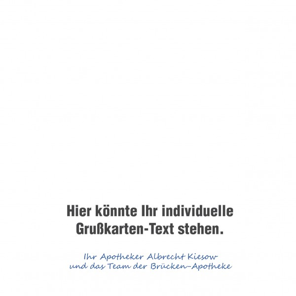 individueller Text ohne Adressfeld